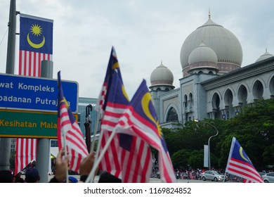 Putrajaya, Malaysia. August 31, 2018. Malaysian celebrated its National Day on August 31 with a parade joined by thousand patriotic citizen in Putrajaya