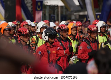 Putrajaya, Malaysia – August 31, 2019: Merdeka Day celebration is a colourful event and is held in commemoration of Malaysia's Independence Day at Dataran Putrajaya.