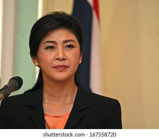 Putrajaya, Malaysia, February 28, 2013: Thai Prime Minister Yingluck Shinawatra talks during a joint press conference in Putrajaya, outside Kuala Lumpur, Malaysia.