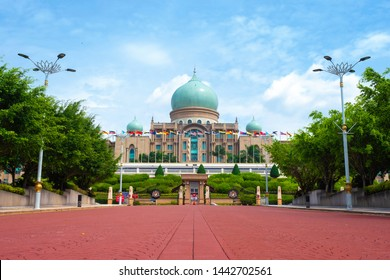 PUTRAJAYA, MALAYSIA - JANUARY, 03 : Malaysian Prime Minister's office facade on January 03, 2019 in Putrajaya, Malaysia. Prime Minister's office is situated in planned city Putrajaya.