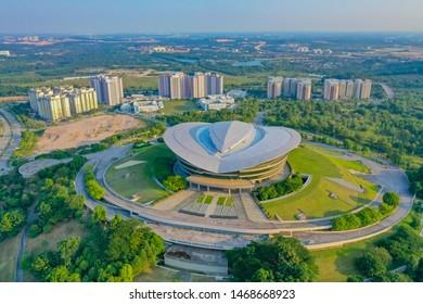 Putrajaya, Malaysia, July 2019: Aerial View Of Putrajaya International Convention Centre