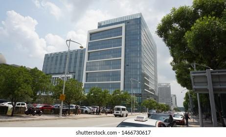 Putrajaya, Malaysia. July 29th, 2019: Streets and Buildings of Putrajaya on a sunny day, Malaysia.
