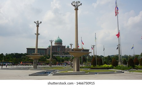Putrajaya, Malaysia. July 29th, 2019: The Perdana Putra is a building in Putrajaya, Malaysia which houses the office complex of the Prime Minister of Malaysia.