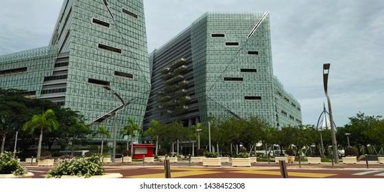 Putrajaya, Malaysia, Jun 20 2019 - View of Government building at Putrajaya, Kuala Lumpur, Malaysia.