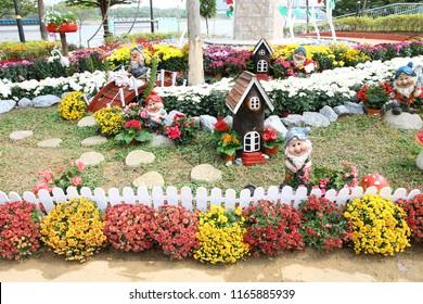 PUTRAJAYA, MALAYSIA - JUNE 27: Creative flower and garden arrangement at Royal Floria Putrajaya in Putrajaya on June 27, 2018.