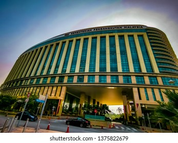 PUTRAJAYA, Malaysia.  March 1, 2019.  Builing of  Ministry of Transport Malaysia located at Precint 4 Government complex. It is a ministry  that is responsible for transport: