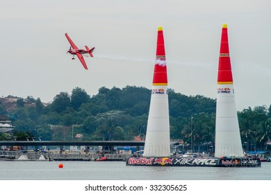Putrajaya, Malaysia - May 18, 2014: Qualifying session of the Red Bull Air Race World Championship 2014.