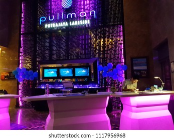 Putrajaya, Malaysia. May 25, 2018. Pullman Putrajaya Lakeside Hotel provide 5 stars hotel experience at Malaysia's capital catering for business travelers as well as vacationist