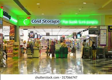 Putrajaya, Malaysia - September 12, 2015: COLD STORAGE at Alamanda Shopping Mall, Putrajaya.