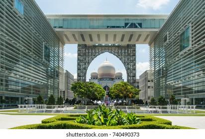 PUTRAJAYA MALAYSIA-SEPTEMBER 30: Istana Kehakiman ( Palace of Justice ) on SEPTEMBER 30, 2017 at Putrajaya Malaysia.