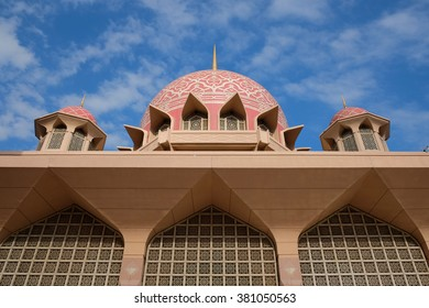 Putrajaya Mosque close up during daytime.