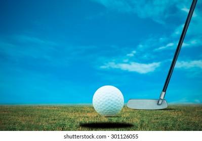Putt golf bal
