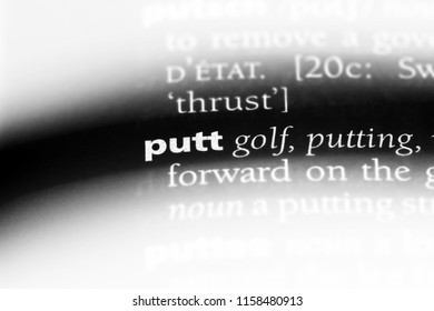 putt word in a dictionary. putt concept.
