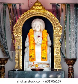 Puttaparthi, Andhra Pradesh, India - January 11, 2013: Sathya Sai Baba Temple of Puttaparthi village