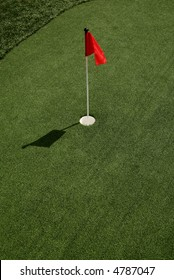 Putting Green with Flag