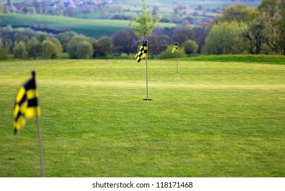 Putting green on a Golfcourse