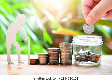 putting money coin to saving for concept investment mutual fund finance and pension retirement