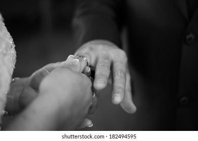 putting ring on finger