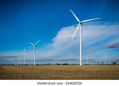 Putting Sun with wind generator, wind energy