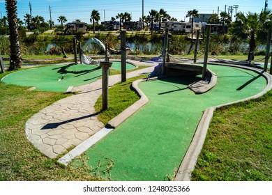 Putt-putt mini golf course
