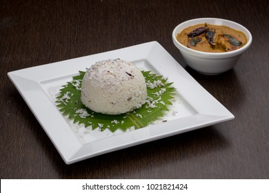 puttu with fish curry