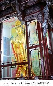PUTUOSHAN, CHINA-JUNE 7: Buddha at Fayu temple. The Buddhist Sanctuary Island has more than 80 temples and attracts 1000000 visitors per year. June 7, 2010, Putuoshan, China