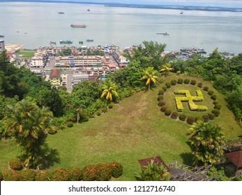 Puu Jih Shih Temple is a Buddhist temple located at the hilltop of Tanah Merah at Sandakan Bay in Sandakan, Sabah, Malaysia.