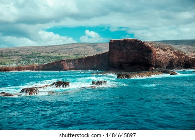 Puu Pehe (Sweetheart Rock) at Lanai Island, Hawaii