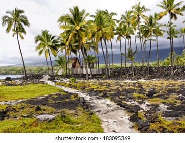 Puuhonua o Honaunau National Historical Park on the Big Island in Hawaii