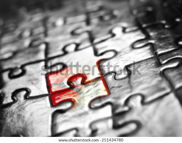 Puzzle background black white red
