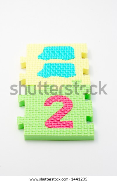 Puzzle colorful numbers for children education