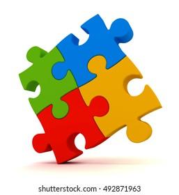 puzzle concept   3d illustration
