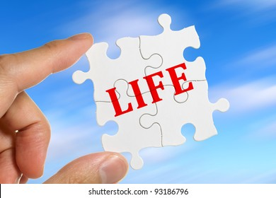 Puzzle, concept of Life Balance