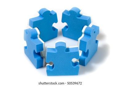 Puzzle concept teamwork. Business concept.