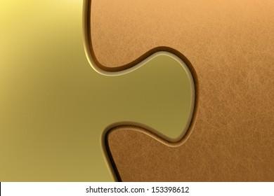 puzzle connection gold copper 3D