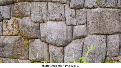Puzzle like inca stoneworks in cusco Peru