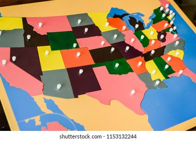 Puzzle Map Of The United States.Puzzle Map Of United States Stock Photos Images Photography