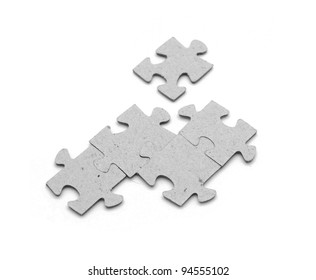 Puzzle on a white background
