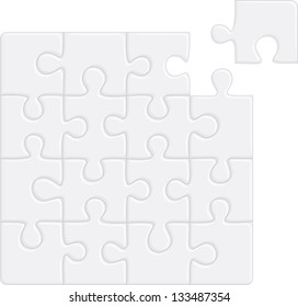 Puzzle pattern (removable pieces). Raster version, vector file available in portfolio.