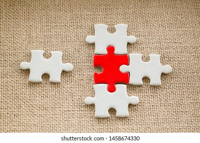 Puzzle piece mismatch, construction and development, build construct, idea and success, solution and growth, difference, Creating or building own business concept.