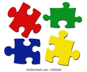 Puzzle Pieces Illustration