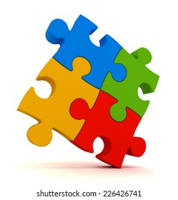 puzzle pieces isolated