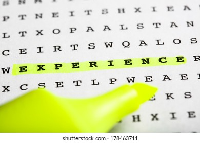 Puzzle Riddle Letter Grid Text Marker Stock Photo (Edit Now