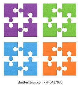 puzzle set colorful
