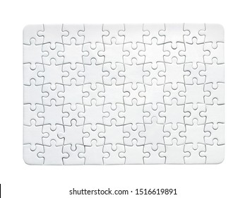Puzzle simple pattern isolated on white