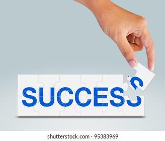 Puzzle Success in hand