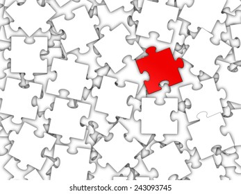 Puzzle and teamwork