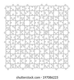 Puzzle template 169 pieces