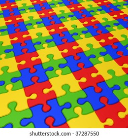 Puzzle texture1. 3d rendering image.