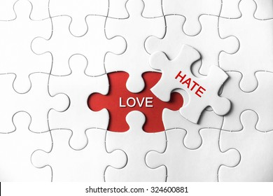 Puzzle with a word Love and Hate